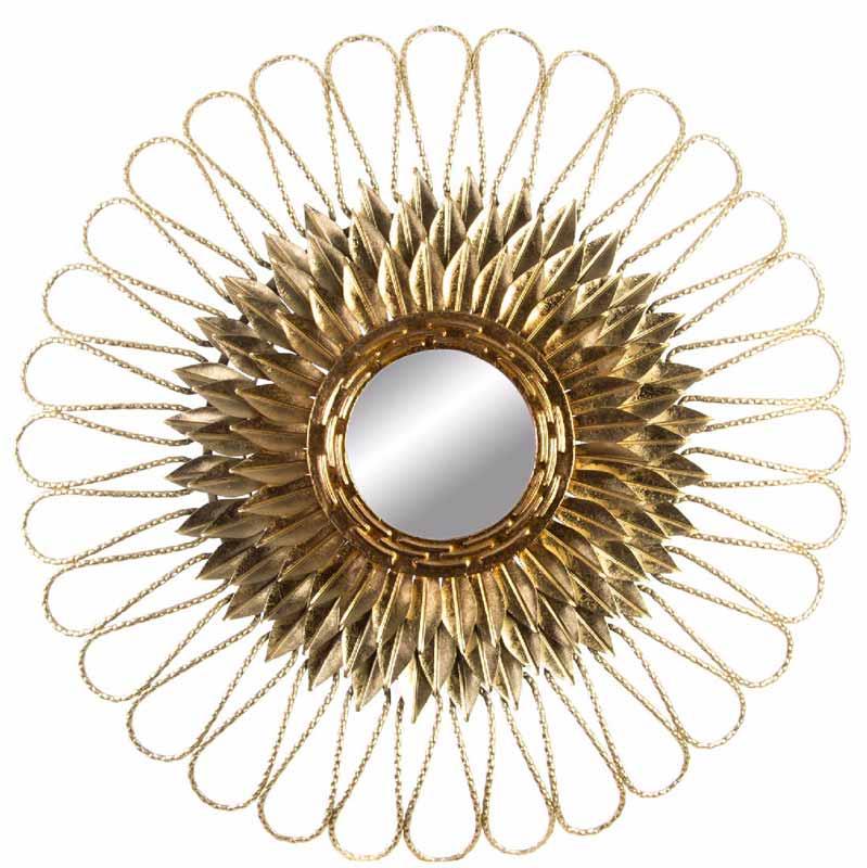 espejos vintage sol dorado