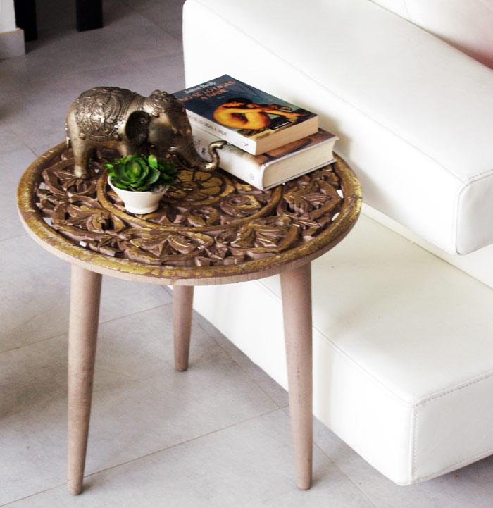 Estudio delier mesita auxiliar mandala - Mesita auxiliar sofa ...