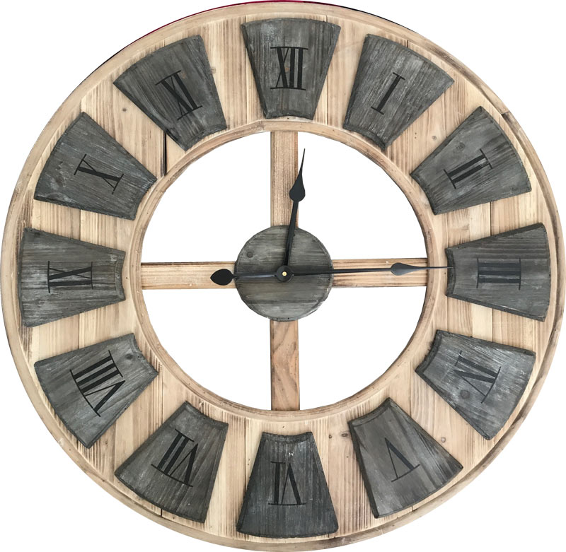 Estudio delier reloj de pared madera for Relojes de salon modernos