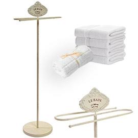 necesitas un perchero para el baño, que ocupe poco espacio y sin hacer taladros, mira este elegante perchero toallero ideal de estilo francés