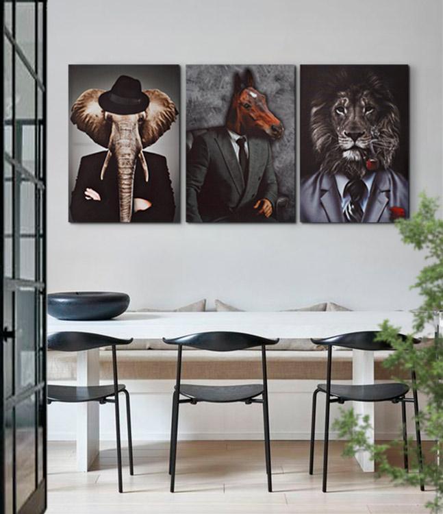 cuadros de animales modernos