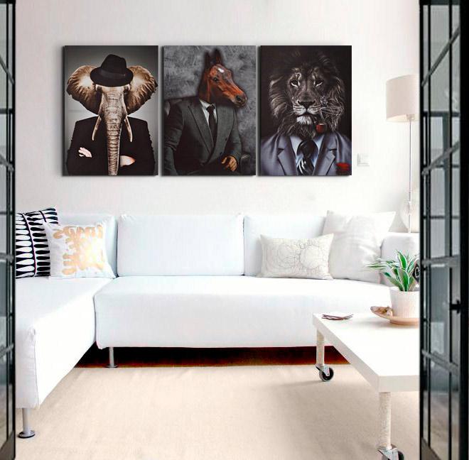 cuadros modernos salon