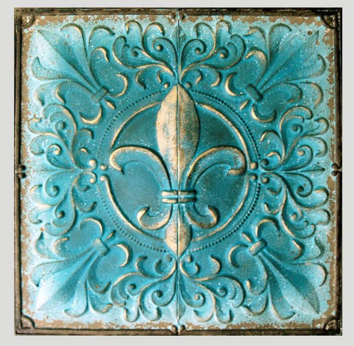 Estudio delier cuadro metal flor de lis - Cuadros clasicos para salon ...