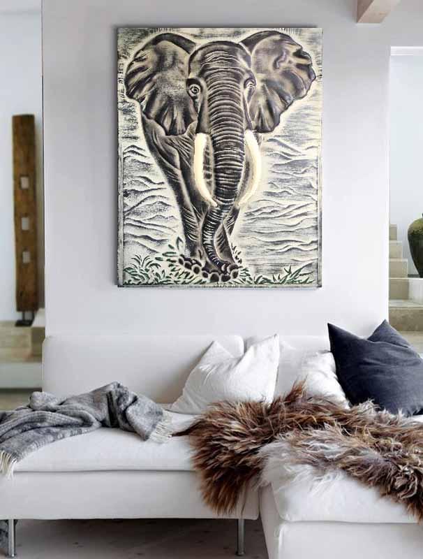 cuadros elefantes modernos