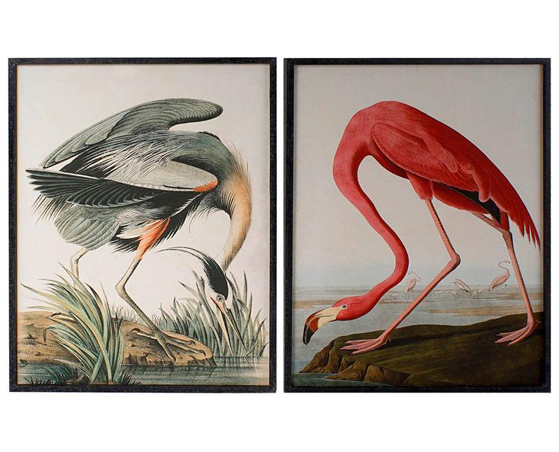 cuadros orientales aves