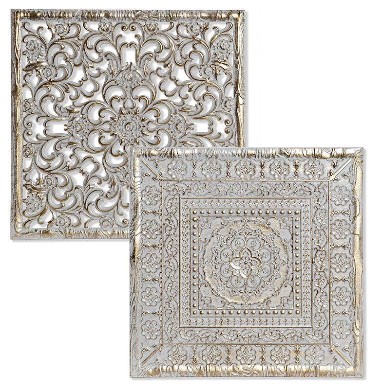 cuadros mandalas oro blanco