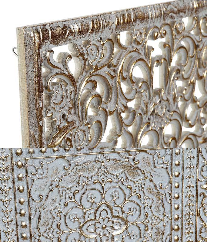 cuadros mandalas blanco oro