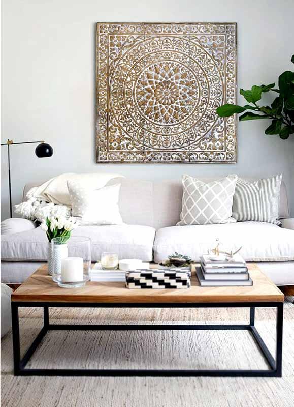 cuadros mandalas para sofas