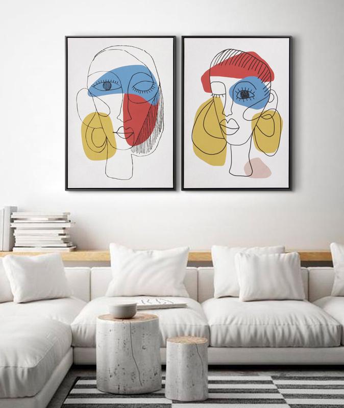 cuadros modernos sofa salon