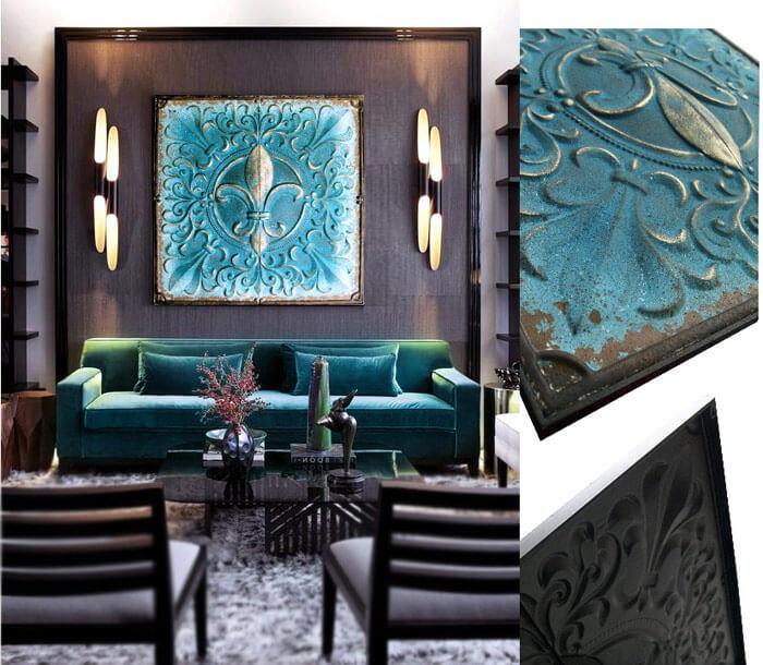 cuadros clasicos para sofa