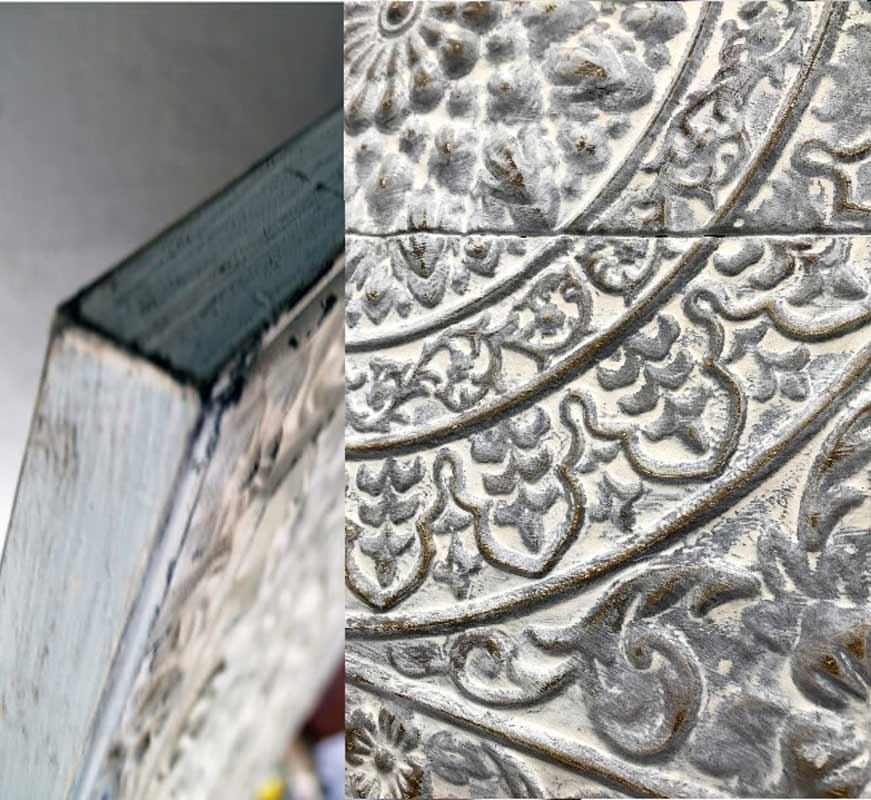 Estudio delier cuadro mandala blanco metal - Cabecero mandala ...