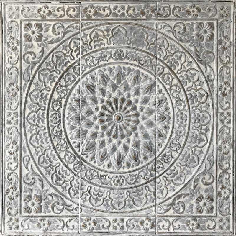 Estudio delier cuadro mandala blanco metal - Cuadros para dormitorios leroy merlin ...