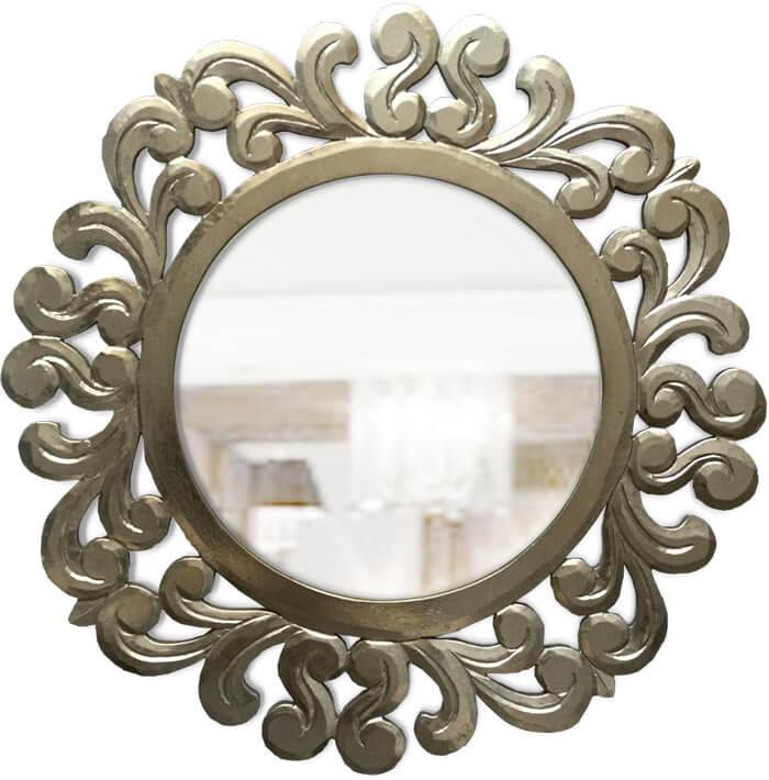 espejos plateados clasicos