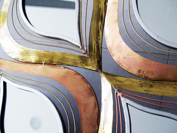 decoracion oro  cobre