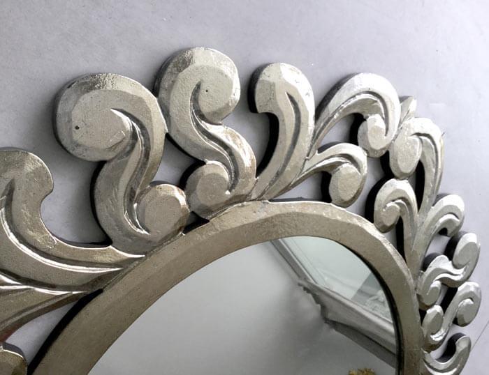 espejos tallados en plata