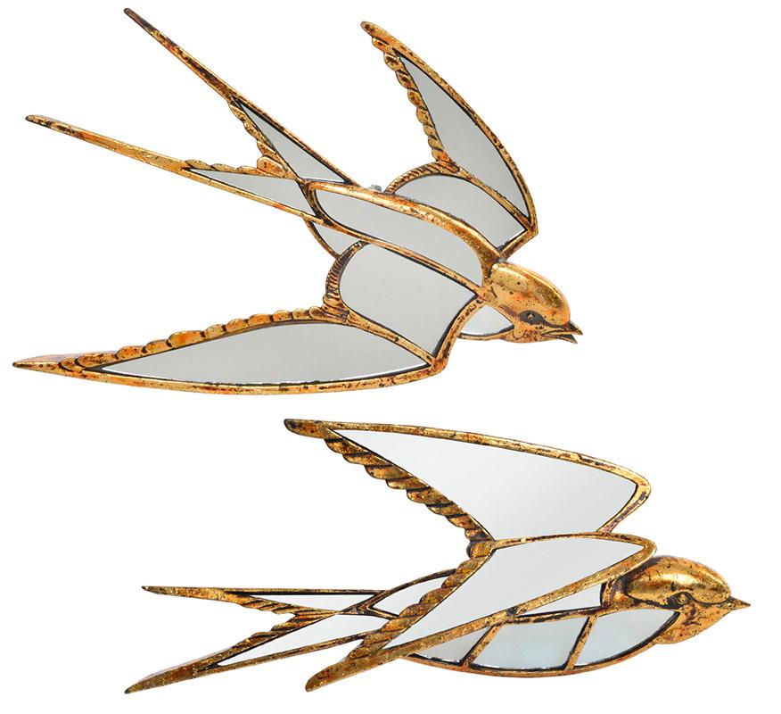 espejos dorados golondrinas