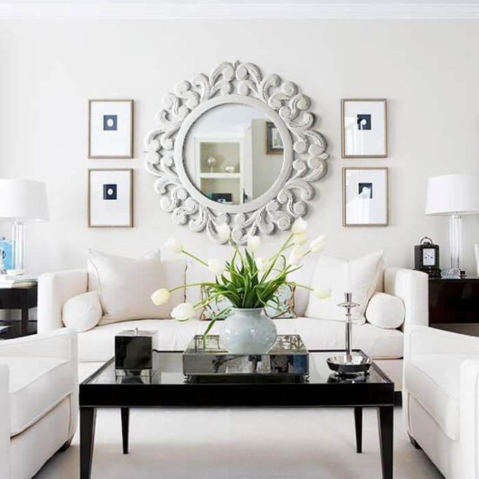 espejos clasicos en blanco