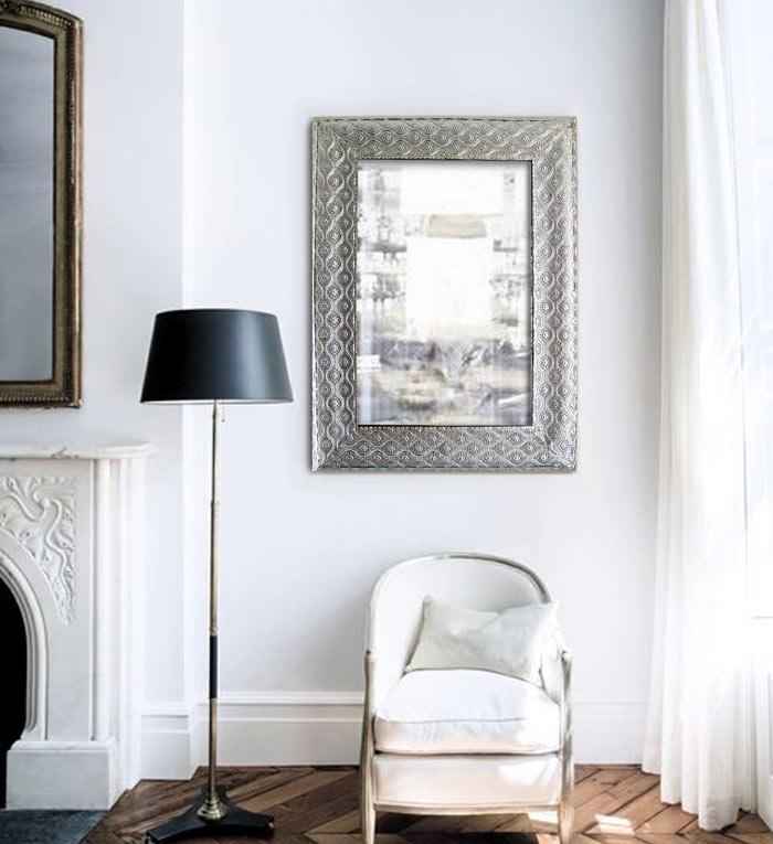 Espejos plateados espejo pared plateado factory espejos for Espejos decorativos plateados