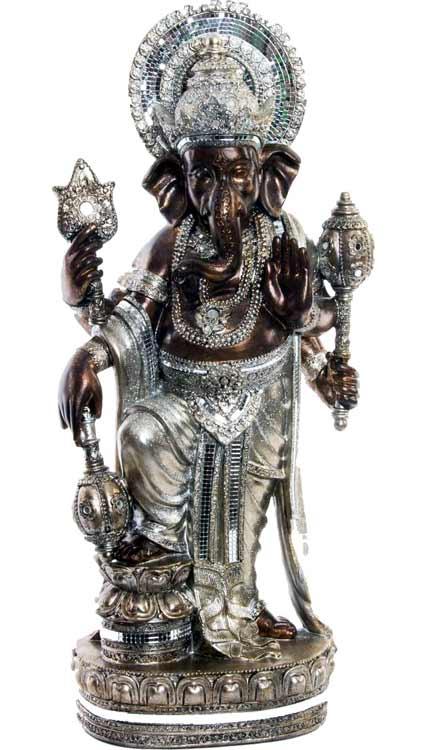 figura ganesha en plata