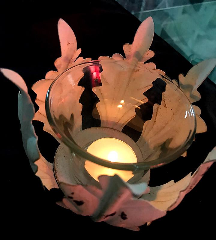 iluminar con velas