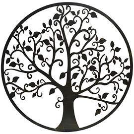 Cuadro para la pared el árbol de la vida, realizado en metal cortado, un cuadro decorativo elegante y con significado para decorar el salon/comedor, dormitorio