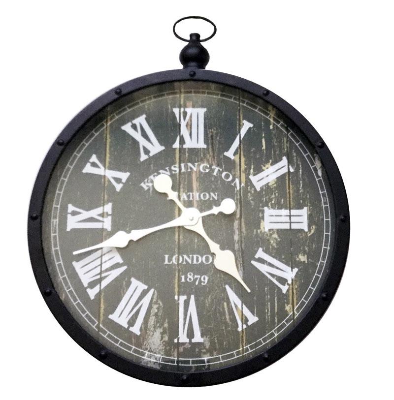 Estudio delier reloj retro pared for Reloj pared estilo industrial