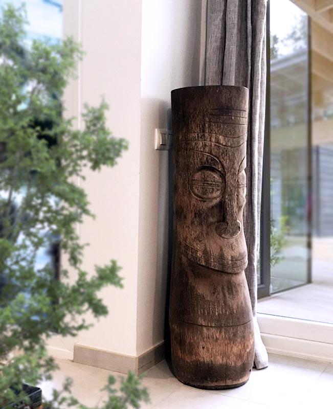decoracion etnica tronco jarron