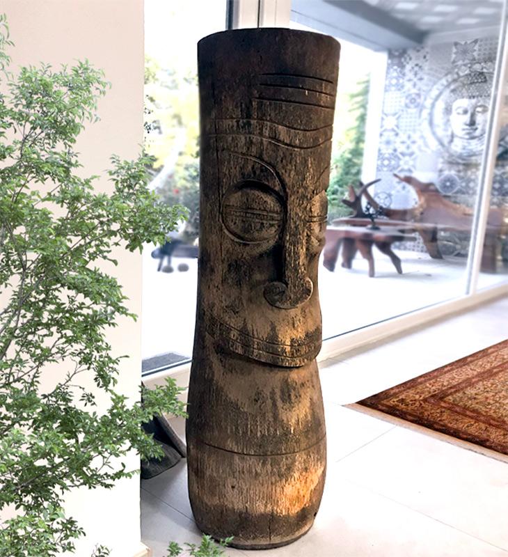 jarrones troncos toten etnicos