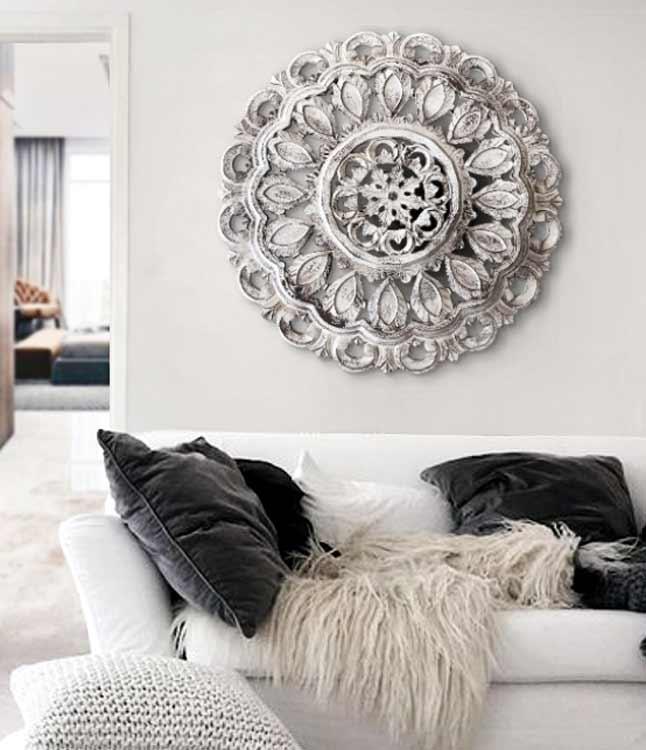 rosetones de madera sofas