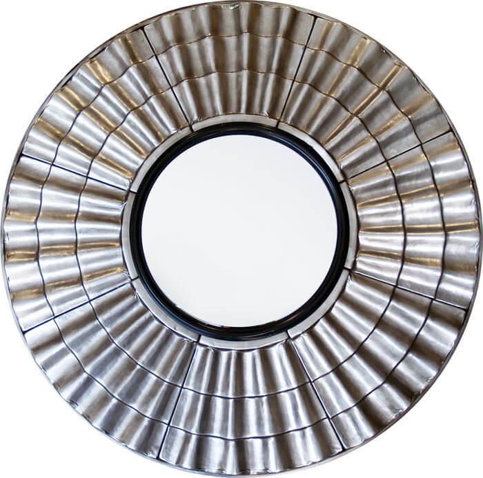 Estudio delier espejo plateado metal for Cuadros plateados baratos