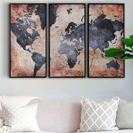 comprar mapamundi cuadros