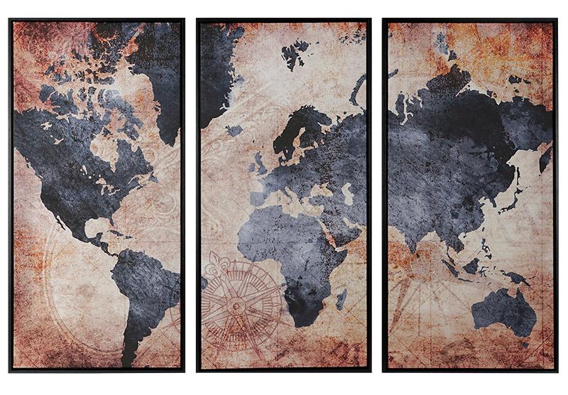 cuadros mapamundi