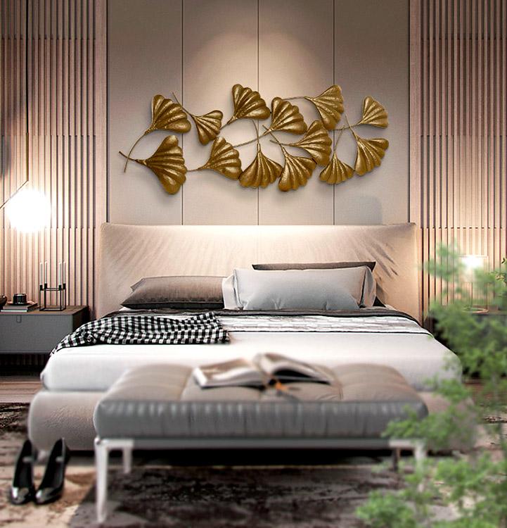 decoracion en metal cabecero sofa