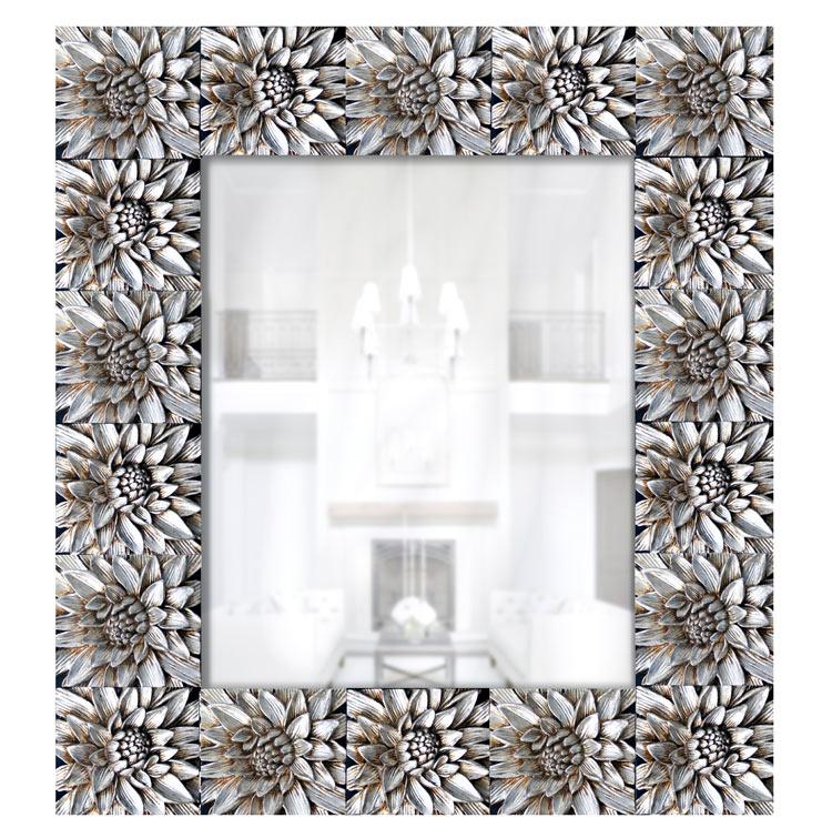 Estudio delier espejo plata lotos for Espejos rectangulares plateados