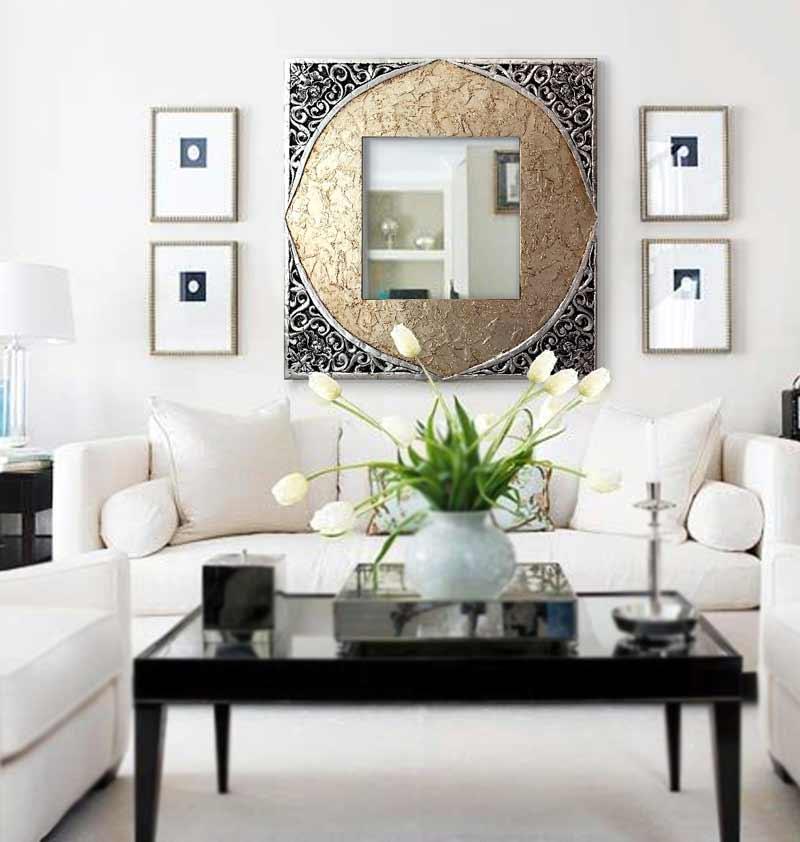 espejos para el sofa entrada