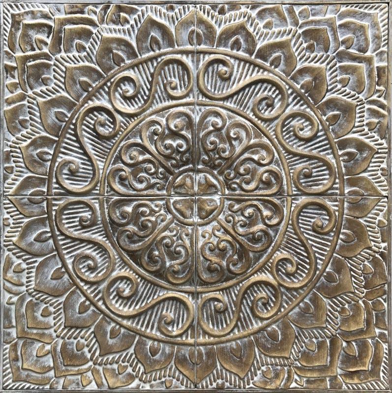 Estudio delier cuadro mandala panel metal - Cuadros mandalas ...
