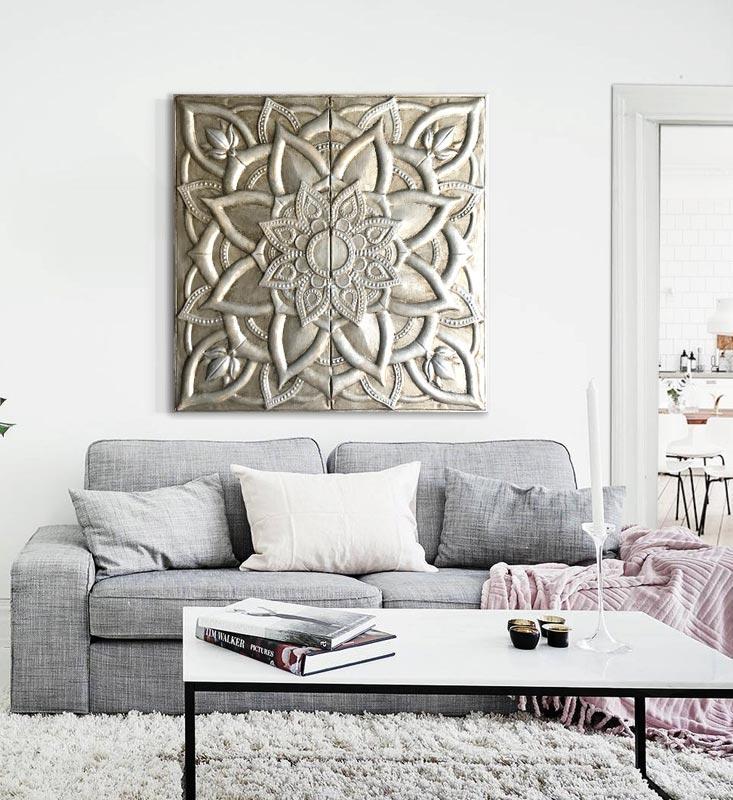 cuadros etnicos decorativos sofa