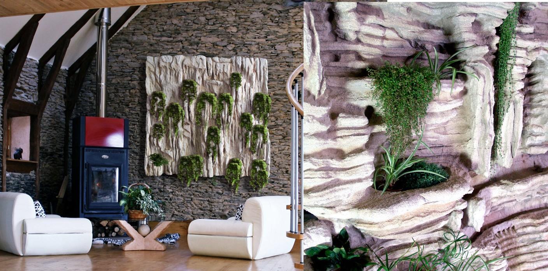 estudio delier jardin vertical cuadro 2 caliza 150x150cm