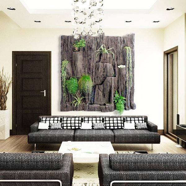 Estudio delier jardin vertical cuadro 2 negro 150x150cm - Cuadro jardin vertical ...