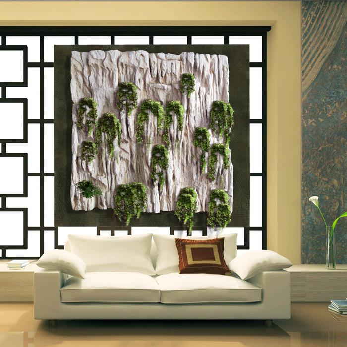 Estudio delier jardin vertical cuadro 2 caliza 150x150cm - Cuadro jardin vertical ...