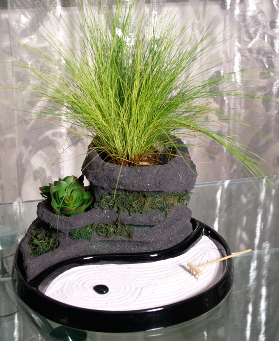 Estudio delier jard n zen yin yang - Arena para jardin zen ...
