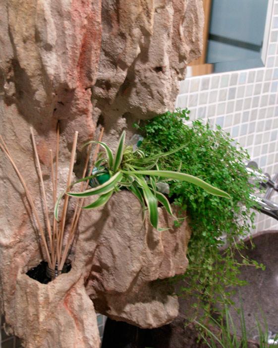 jardin vertical baño