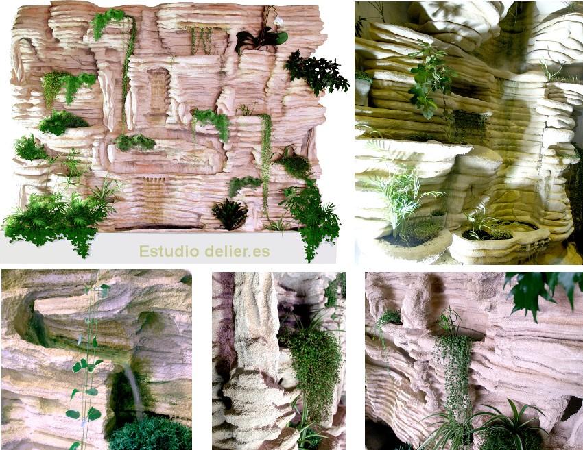 Estudio delier jard n vertical pared revestimiento 950 m2 for Imagenes de jardines verticales