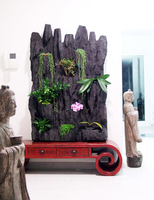 Estudio delier jardin vertical 97x147 cm volc nico - Cuadro jardin vertical ...
