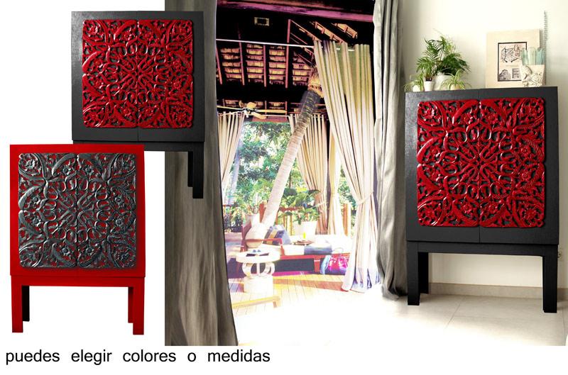 Estudio delier mueble oriental roseton for Muebles orientales montevideo