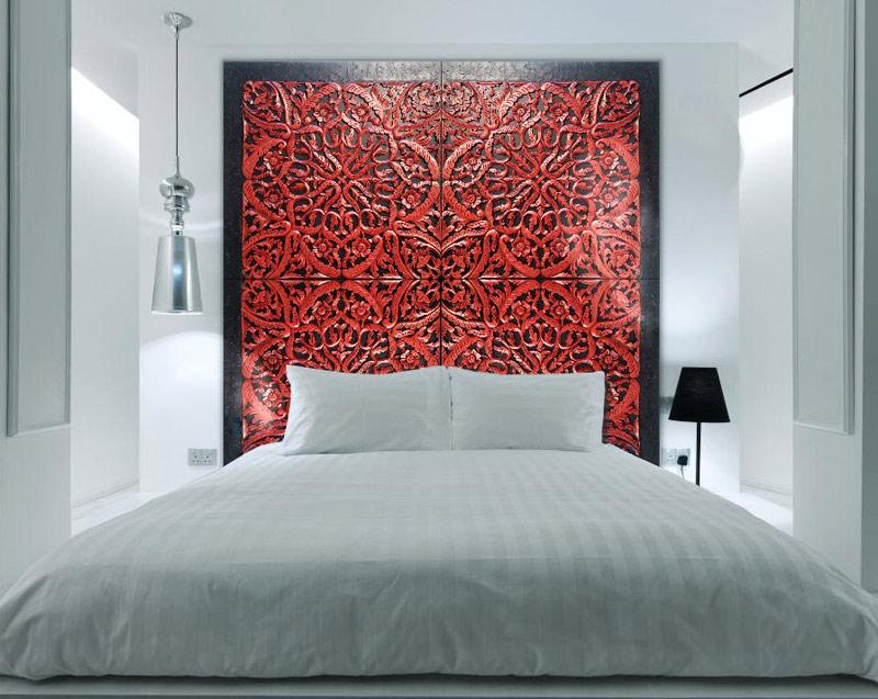 Estudio delier cabecero mandala grande rojo - Cabeceros de cama con fotos ...