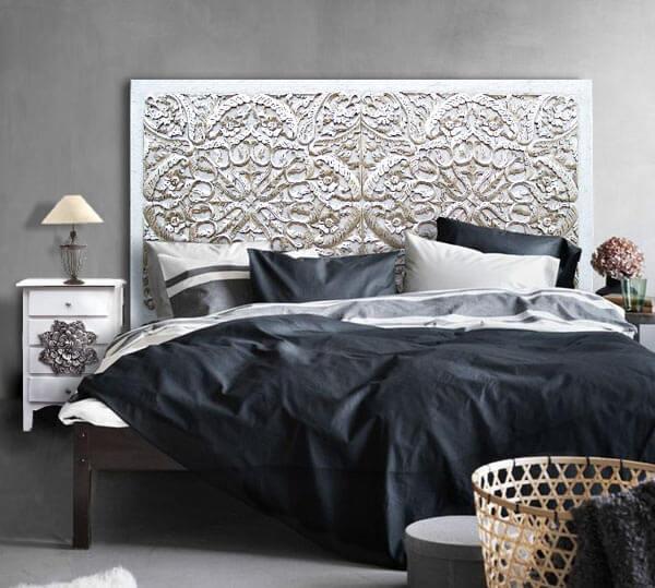 Estudio delier cabecero mandala plateado peq - Ideas para cabeceros de cama originales ...