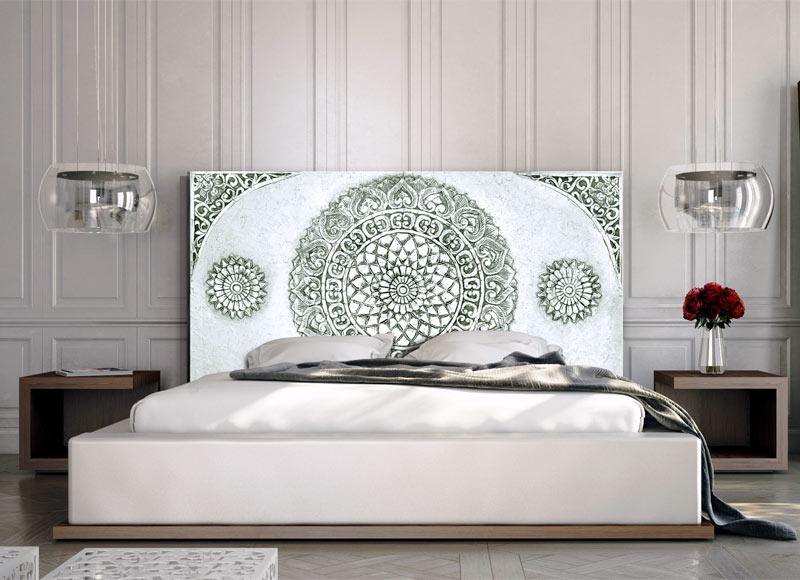 Estudio delier cabecero mandala gris - Cabeceros de cama rusticos ...