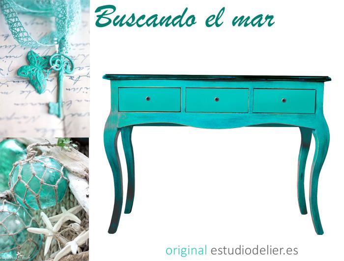 Estudio delier consola mueble de entrada colores - Muebles de colores ...