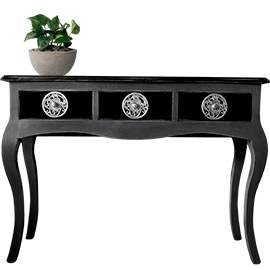 consolas muebles negros